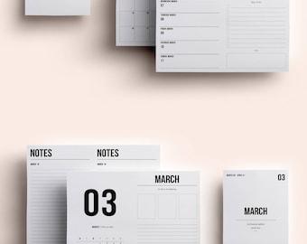 B6 TN Insert | B6 TN Printable | B6 TN Printable Insert | B6 Insert March 2018