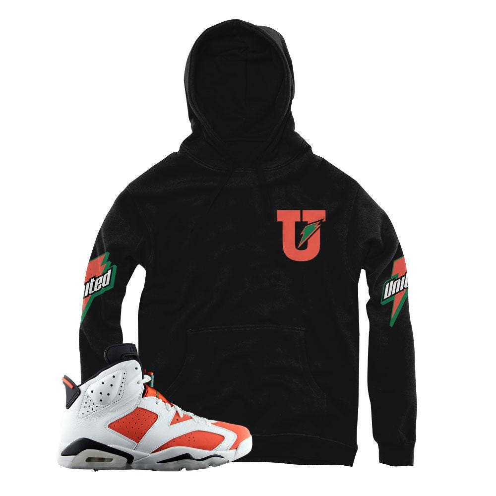 54653bdd5ac gatorade jordan 6 hooded sweatshirts match retro 6 shoes