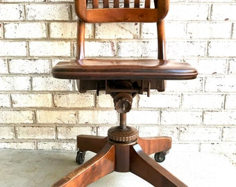 solid wood chair wooden chair walnut swivel office chair