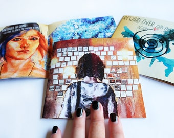 Life is strange Art Zine, Max and Chloe Collectors Fanart Quote Booklet