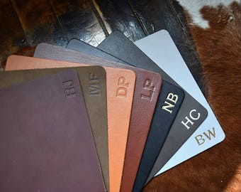 Custom Leather Mousepad - Full Grain Premium Real Leather. Personalized Mouse Pad. Multiple Colors Available w/ Gold & Silver Foil Options.