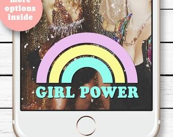 Rainbow Snapchat Filter, Birthday Geofilter, Snapchat Geofilter, Girl Power Party, Unicorn Party, Princess Birthday ideas, 21st Birthday