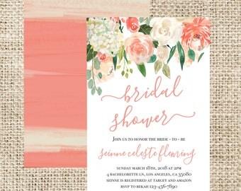 Beautiful Bridal Shower Printable Invitation.