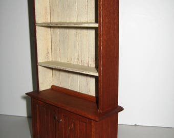 Dollhouse Miniature Handmade Kitchen Country Cupboard Cabinet 1:12 Scale Wood Artisan