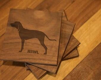 Coonhound Coaster Set
