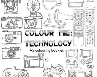 Technology colouring booklet