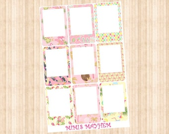 Bird FRAMES // Happy Planner // Erin Condren // Personal