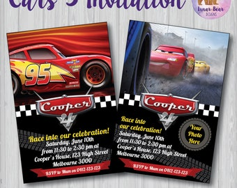 Cars 3 Movie Invitation, Cars Invitation, Lightning McQueen Invitation, Cars Birthday Party, Cars Photo Invitation, Cars Movie, Cars Party