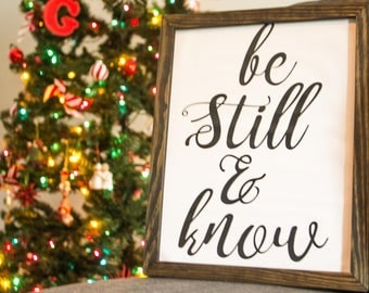 Be Still and Know, Psalm 46:10, Printable Artwork