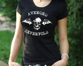 Avenged Sevenfold Tshirt Avenged Sevenfold Tee Rock T shirt Avenged Sevenfold rock T shirt Women's T-shirt shirt Heavy metal shirt