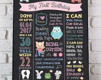 Farm Animals First Birthday Poster, Barn Animals Birthday Chalkboard, Animals Birthday Sign, Animals 1st Birthday Sign, Birthday PRINTABLE
