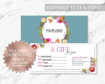 Floral|Teal|Gift Certificate|RF Gift Certificate|Rodan and Fields Gift Certificate|Rodan and Fields|Rodan Fields|Rodan and Fields Gift Card
