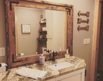 Farmhouse Mirror Frame (Local Pickup Only)