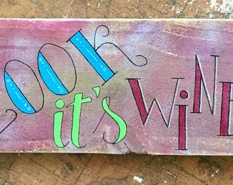 Oh Look It's Wine:30 Hand Lettered Wall Art