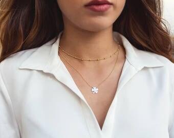 Clover necklace, clover pendant, lucky necklace, clover Charm, clover necklace, lucky necklace, shamrock pendant, ladies Necklaces