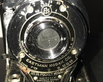 Antique 1911 Kodak Folding Bellows Camera 1A Art Deco Good Condition