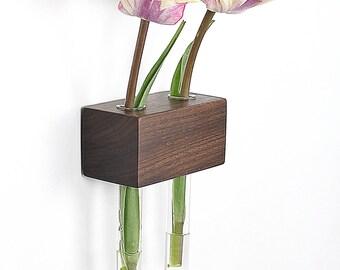 Window vase nut of 2 flower vase test tube vase
