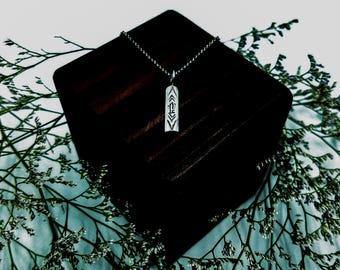 Sterling Silver Necklace / Southwest Necklace / Cactus Necklace / Desert Necklace / Bar Layer Necklace / Handmade / OOAK / Stocking Stuffer