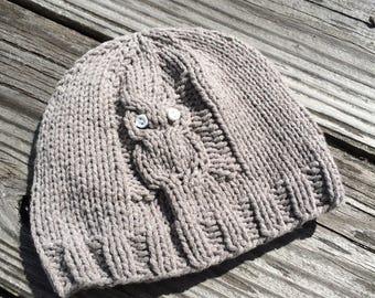 0-6 month Grey Owl Beanie