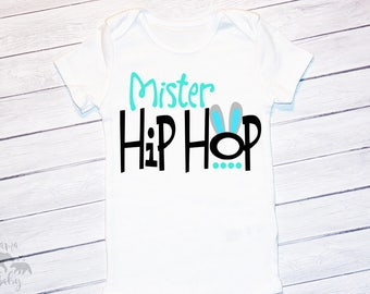 Baby Boy Easter Onesie, Mister Hip Hop Shirt, Toddler Easter Outfit, My First Easter, Boys Easter Shirt, Mr. Hip Hop, Boys Easter Bodysuit