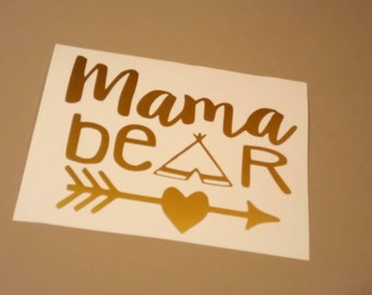 DIY iron on Bear Family decals,mama bear