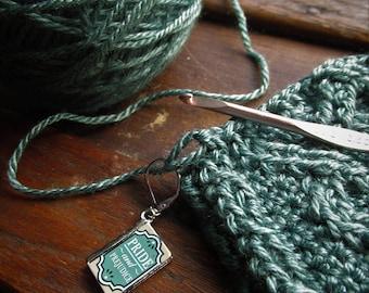 Crochet Stitch Saver Knitting Stitch Marker Progress Keeper Jane Austen Earring Sense and Sensibility, Pride and Prejudice, Emma