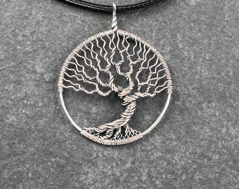 Tree-of-life necklace Wire wrapped jewelry Silver tree pendant Tree of life pendant Handmade necklace Family tree necklace Wire wrapped tree