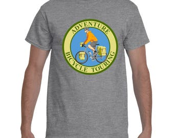 Adventure Bicycle Touring T-Shirt. Adventure Graphic T-Shirt