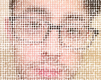 CUSTOM Mosaic Portrait (over 2000 handpainted dots) - DOWNLOAD