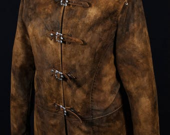 Leather musketeer Jacket