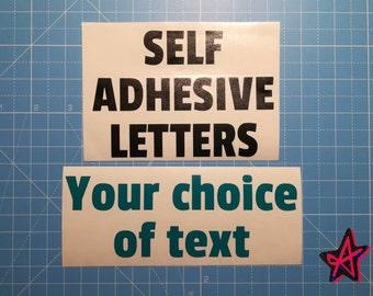 Personalised self-adhesive vinyl letter stickers | Custom Vinyl Lettering