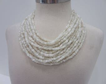 Vintage 12-Strand Mother-Of-Pearl Necklace