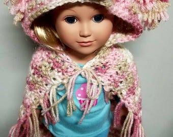 Puppy doll blanket, 18 inch doll blanket, doll blanket