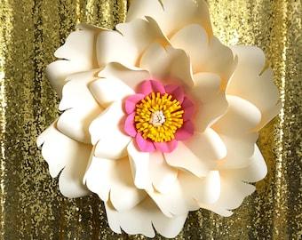 PDF Petal # 8 Paper Flower Template with Base, DIGITAL Version - The Elvis - Original Design by Annie Rose