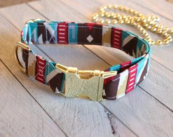 SouthWestern Blitz Dog Collar/ Pet collar/western/ Southwestern/ Country/