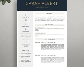 Resume Template, Instant Download, Professional Resume Template, Modern Resume Template, Creative CV Template, Professional CV Template.