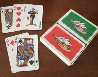 Vintage souvenir playing card set Sydney Opera House Made in Hungary Souvenir ware Collectibles
