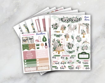 Wedding Sticker Kit 7 & 1/2 Sheets -Erin Condren / Planner Stikers / Life planner / Happy Planner / Dream Planner