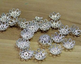 Copriperla in filigrana,copriperla argento,copriperla grande,filigrana argento.