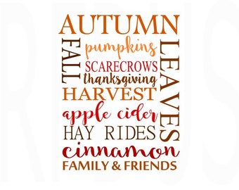 Autumn dall pumpkins scarecrows harvest apple cider hay rides cinnamon svg , Cricut Cut svg, fall svg file, thanksgiving svg, fall y'all svg
