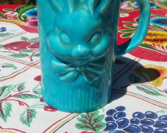 RARE blue bunny ceramic children's mug