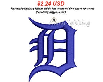 Detroit Tigers Logo Machine Embroidery Design 5 Sizes