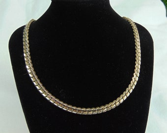 Necklace, 1950, Cuban link, 10 to 14K gold, shipped free