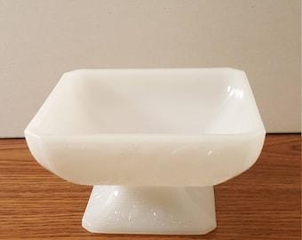 E. O. Brody Milk Glass Pedestal Compote Dish (c. 1958- 1970's)