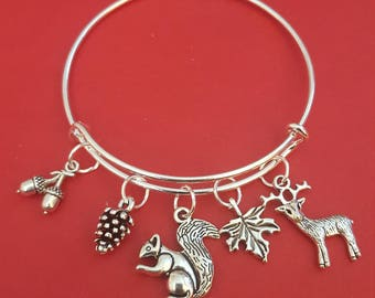 Woodlands Themed Charm Bracelet