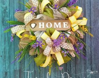 Summer wreath, Summer door wreath, Sommer türkranz , Home, Door decoration, from Europe