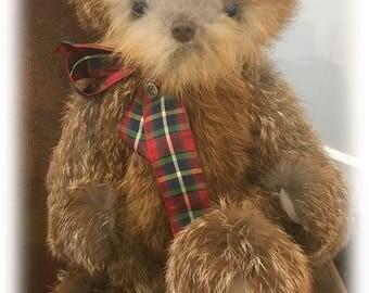 Genuine Fox Fur Teddy Bear with Growler