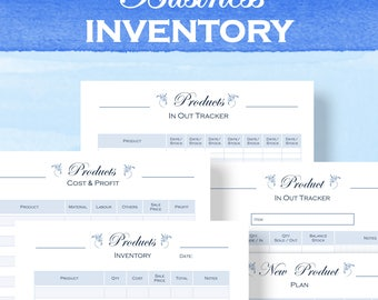 Printable Inventory planner, small Business, inventory tracker, download letter size and a4 pdf
