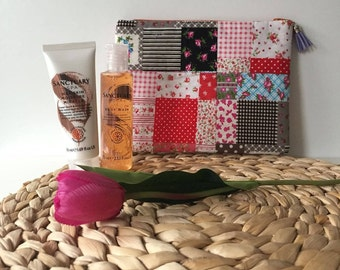 Patchwork/ Wash Bag / Makeup Bag / Toiletry bag / Travel bag