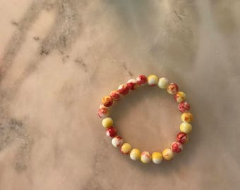 Sunburst Stackable Small Beaded Bracelet